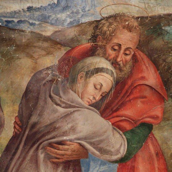 Dono Doni (attribuito), accettazione della divina maternità, Chiesa di Sant'Andrea, Spello (Pg)