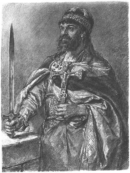 Mieszko in un quadro del pittore Jan Matejko