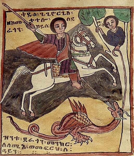 miniatura-di-arte-copta-sul-santo-che-colpisce-il-drago