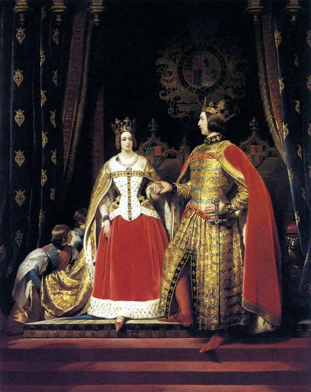 La regina Vittoria e il principe Alberto al Bal Costumé (Sir Edwin Landseer, 1842)