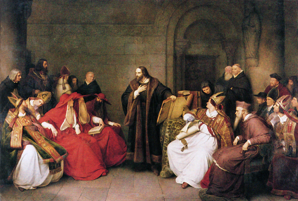 Jan Hus al Concilio di Costanza in un dipinto di Carl Friedrich Lessing (1842)