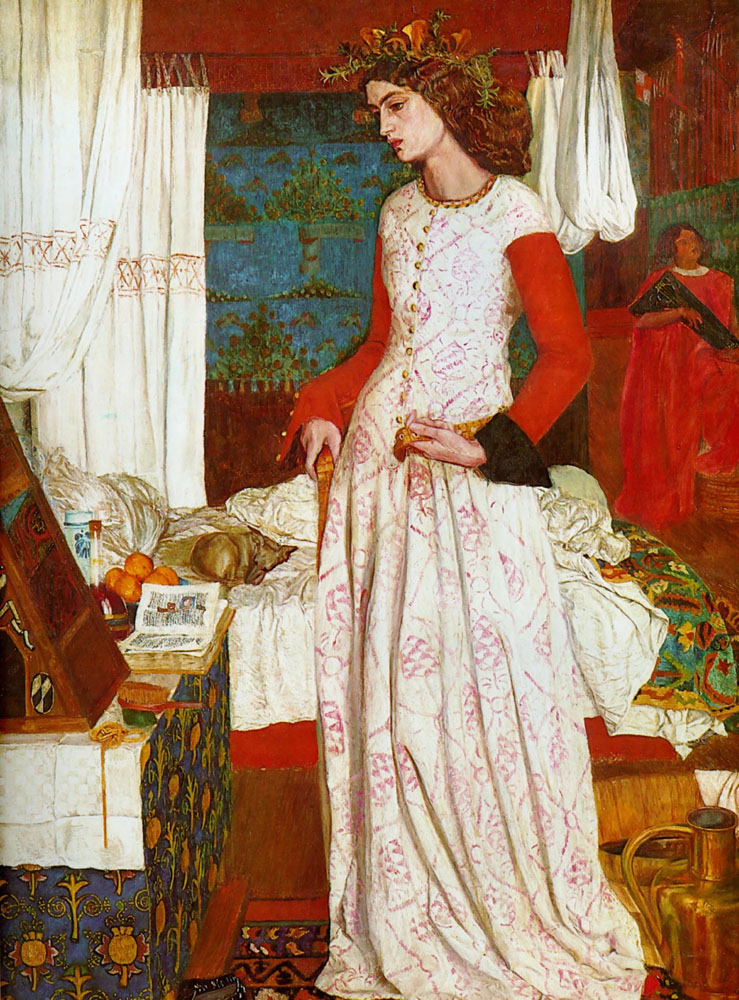 Jane Burden, moglie di William Morris posò nel quadro La Belle Iseult, 1858