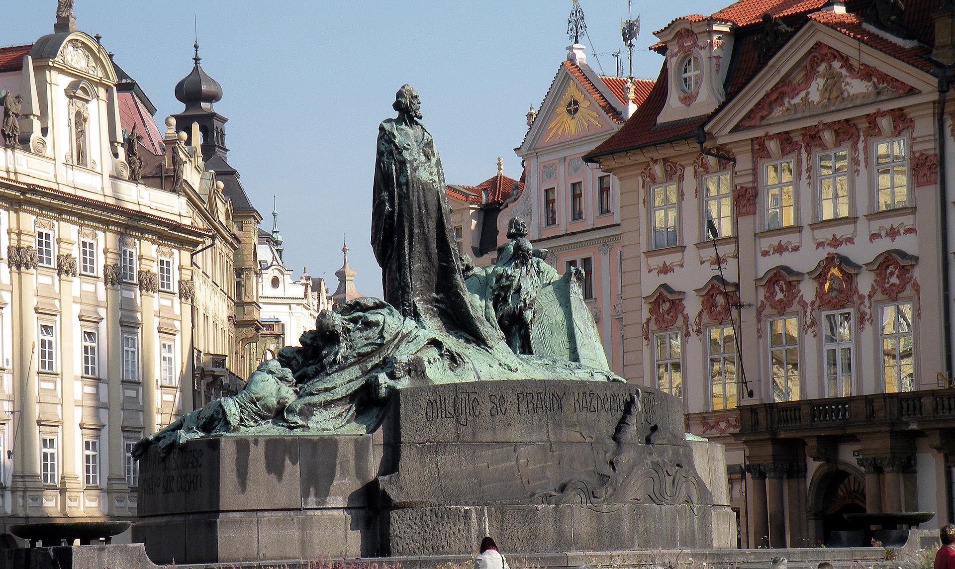 Il monumento a Jan Hus, a Praga