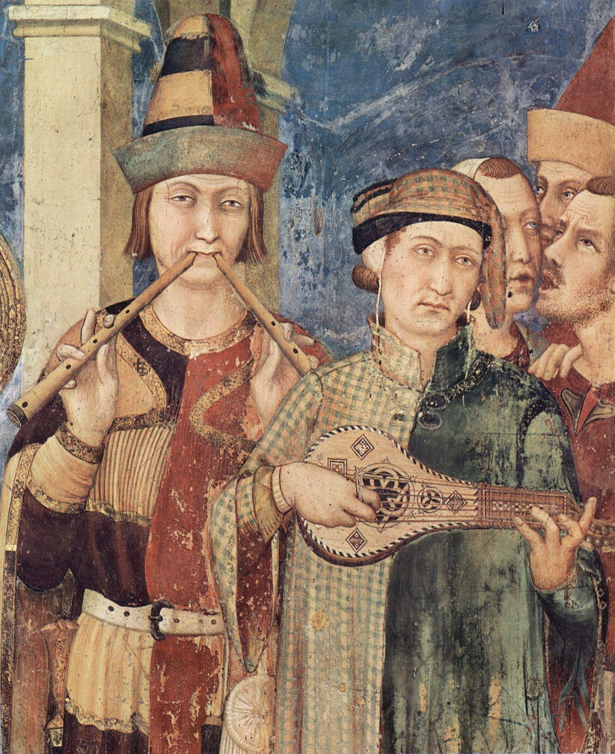 Simone Martini, dettaglio dall'affresco della Vestizione di San Martino, Basilica inferiore di San Francesco, Assisi