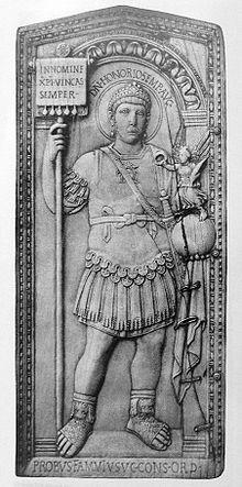 onorio-raffigurato-sul-dittico-consolare-di-probo-nel-406