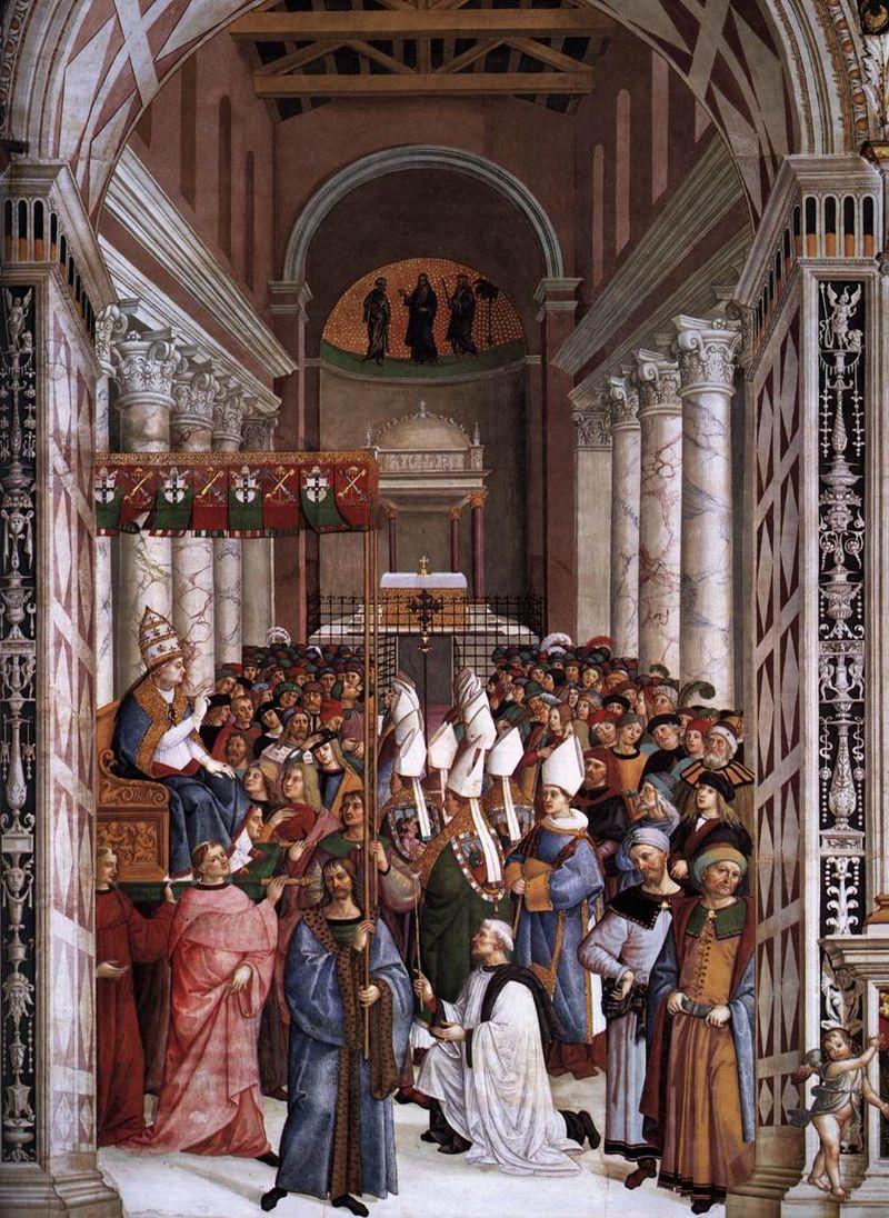pio-ii-incoronato-pontefice-entra-in-vaticano-pinturicchio