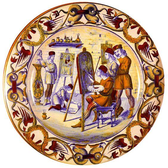 piatto-da-pompa-con-la-bottega-di-matteo-da-gualdo-fabbrica-di-paolo-rubboli-1878
