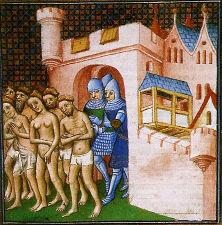 miniatura-raffigurante-la-cacciata-dei-catari-da-carcassonne