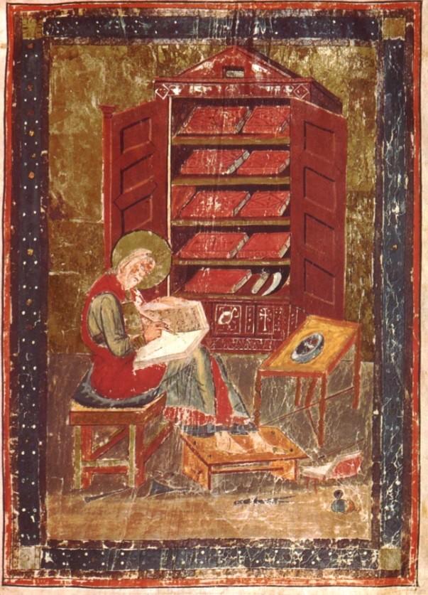 il-monaco-esdra-intento-alla-copiatura-dei-testi-. Lo scriptorium in una  miniatura del secolo VII c9c26ae5562