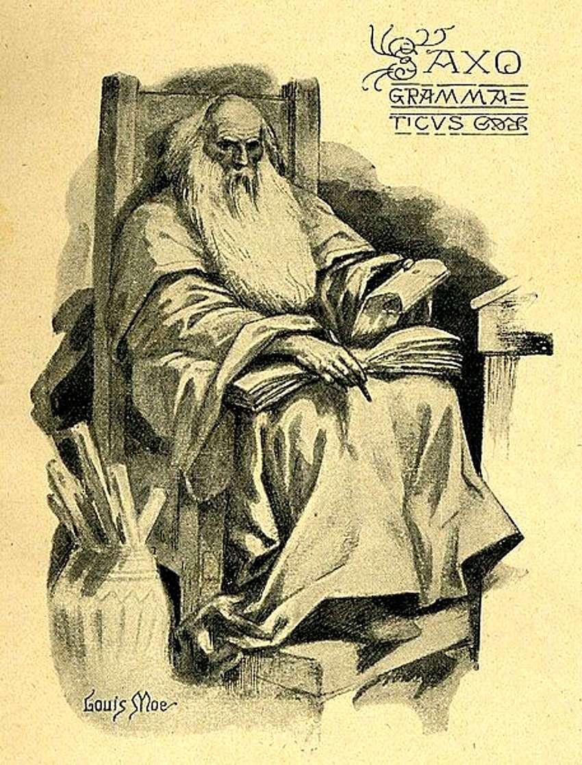 saxo-grammaticus-in-una-illustrazione-di-louis-moe-1857-1945