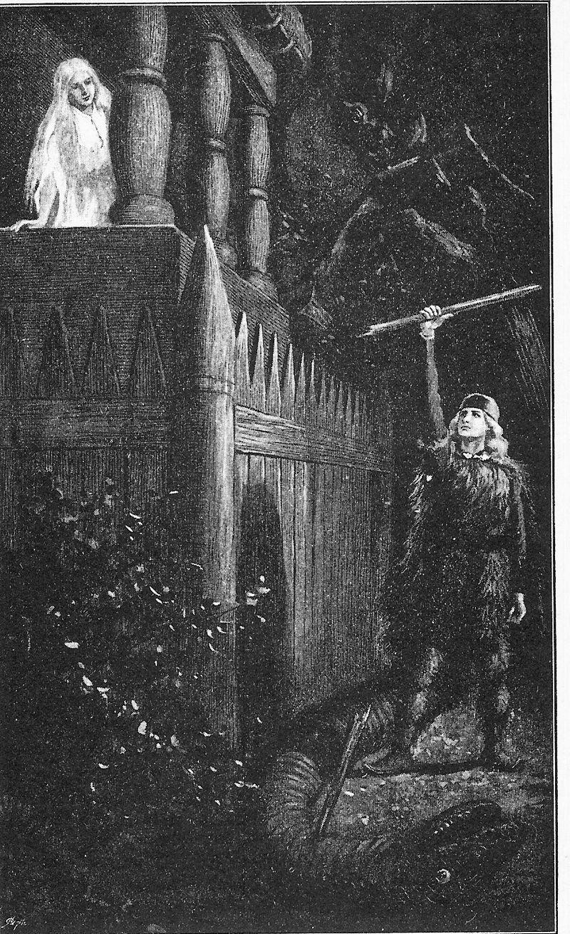 thora-e-ragnarr-in-una-illustrazione-di-jenny-nystrom-1895