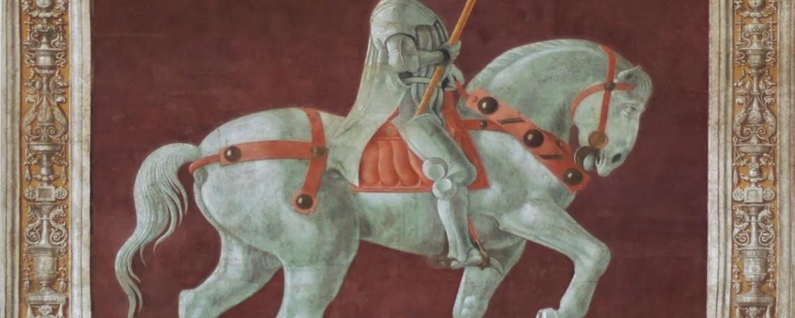 john-hawkwood-chiamato-dagli-italiani-giovanni-acuto-raffigurato-in-un-affresco-di-paolo-uccello-in-una-parete-del-duomo-di-firenze