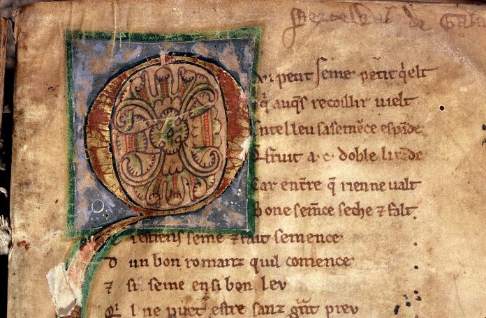 enluminure-du-manuscrit-de-perceval-de-chretien-de-troyes-xiii-eme-siecle