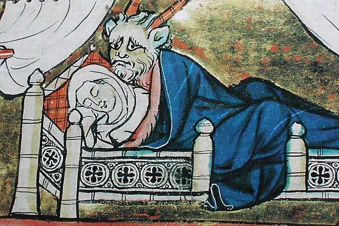 incubus-nel-romanzo-histoire-de-merlin-di-robert-de-boron-concepisce-merlino-con-la-madre-bnf-1280-1290