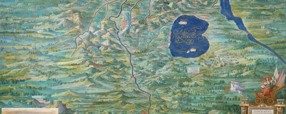 Ignazio Danti, agro perugino (1581-1583) Musei Vaticani, Galleria delle carte geografiche