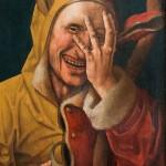 Sciocco che ride, dipinto olandese del XV secolo