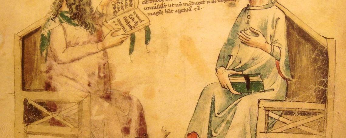 un-colloquio-immaginario-fra-porfirio-e-averroe-rappresentato-in-unopera-del-xiv-secolo