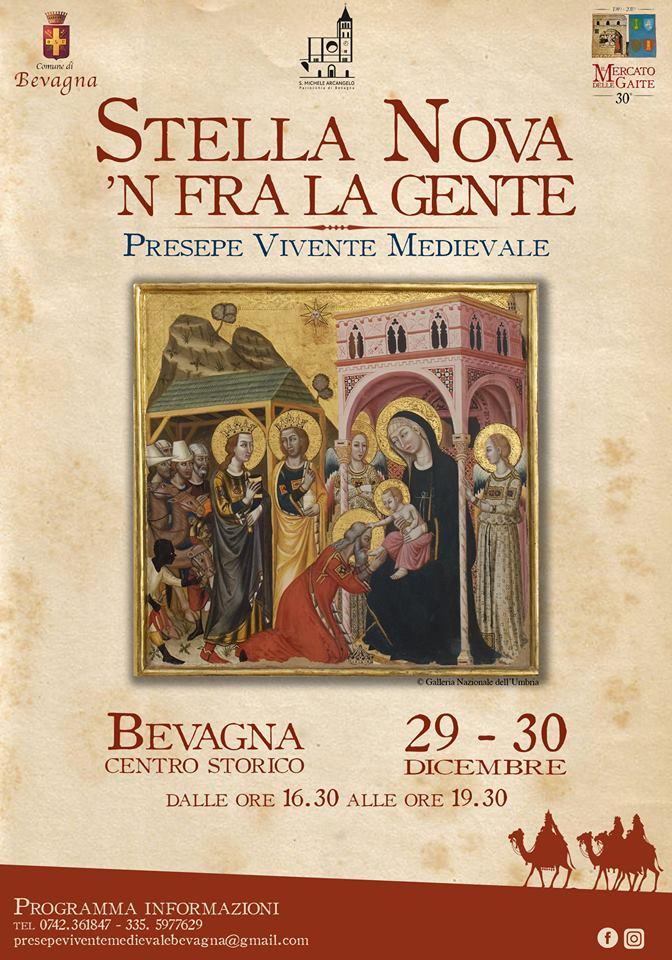 Stella nova 'n fra la Gente, presepe medievale vivente a Bevagna