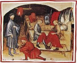 Un laboratorio di sartoria medievale